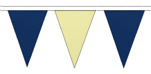 ROYAL BLUE AND BEIGE TRIANGULAR BUNTING - 10m / 20m / 50m LENGTHS